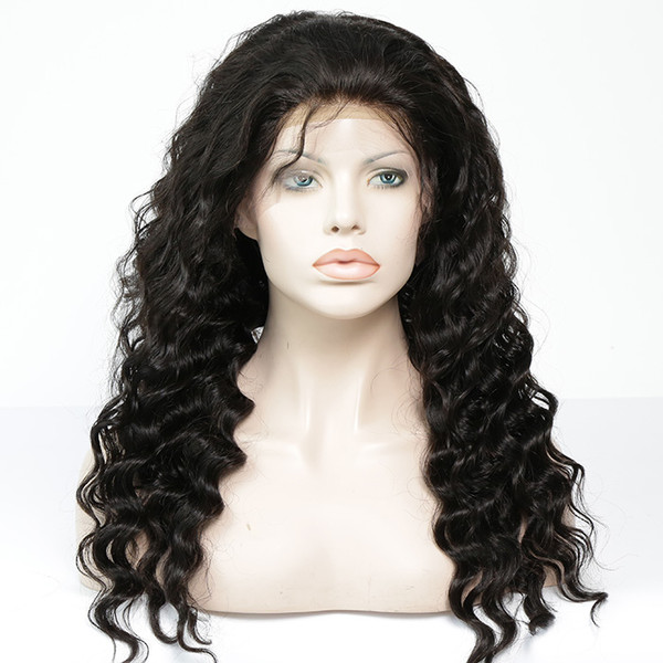 Lace Front Wig Pre-plucked Remy Virgin Human Hair Loose Wave