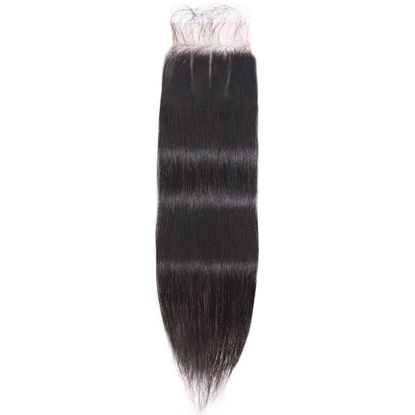 Transparent Lace 4X4 Pre-plucked Top Closure Straight  Virgin Human Hair