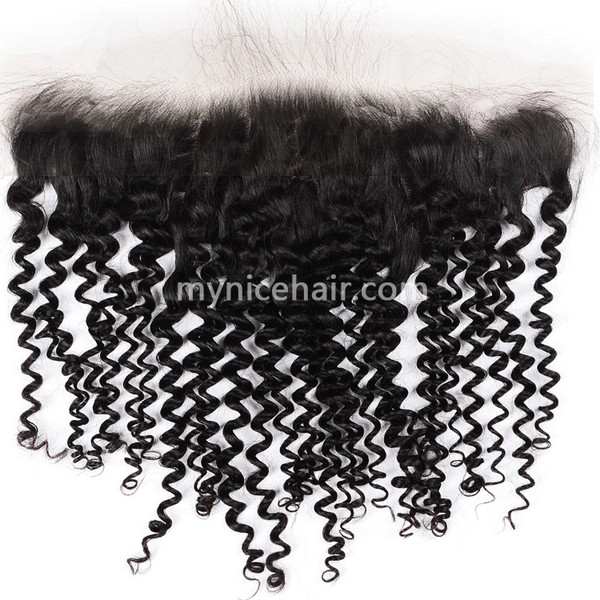 13x4 Pre-plucked Frontal Unprocesse Curly  Virgin Human Hair