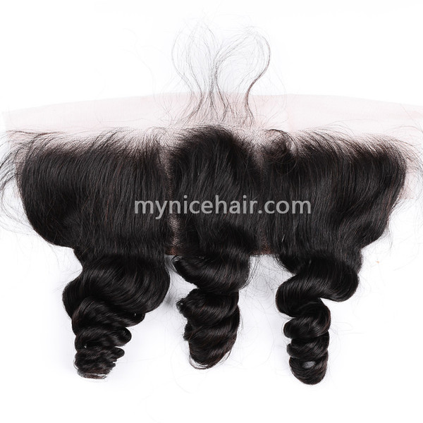 13x4 Pre-plucked Frontal Unprocessed Loose Curly Virgin Human Hair