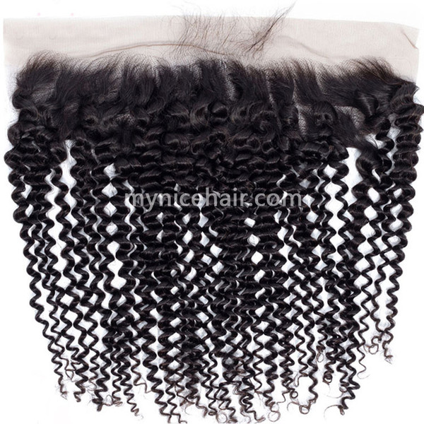 13x4 Pre-plucked Frontal Unprocesse Kinky Curly Virgin Human Hair