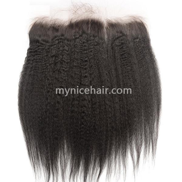 13x4 Pre-plucked Frontal Unprocesse Kinky Straight Virgin Human Hair