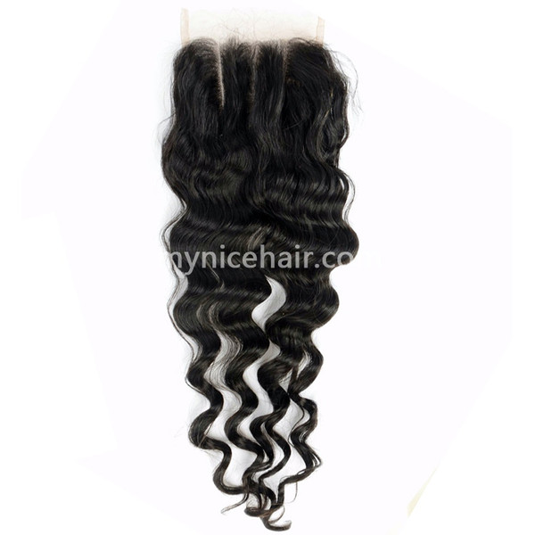 Transparen Lace 4X4 Pre-plucked Top Closure Loose Wave Unprocessed Virgin Human Hair