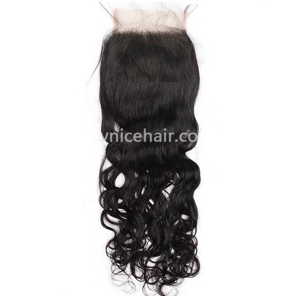 4X4 Pre-plucked Top Closure Natural Wave Virgin Human Hair