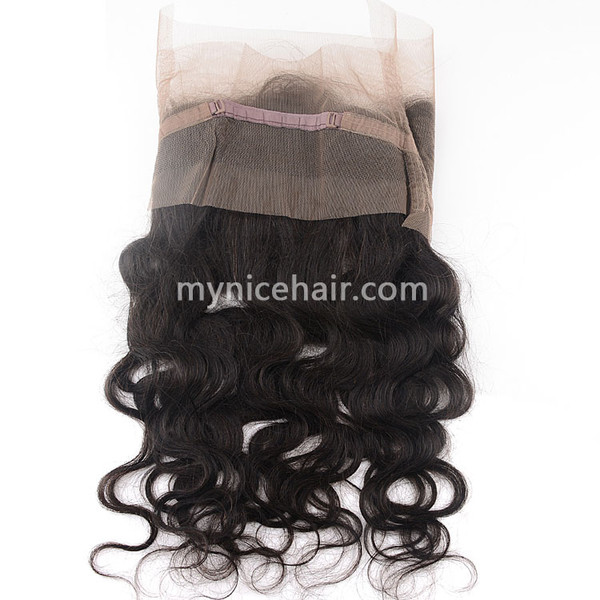 360 Lace Frontal Preplucked Body Wave Unprocessed  Virgin Human Hair