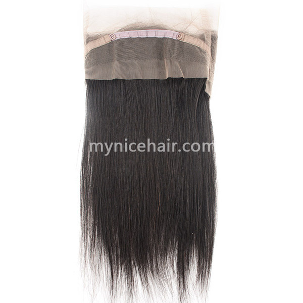 360 Lace Frontal Preplucked Straight Unprocessed  Virgin Human Hair