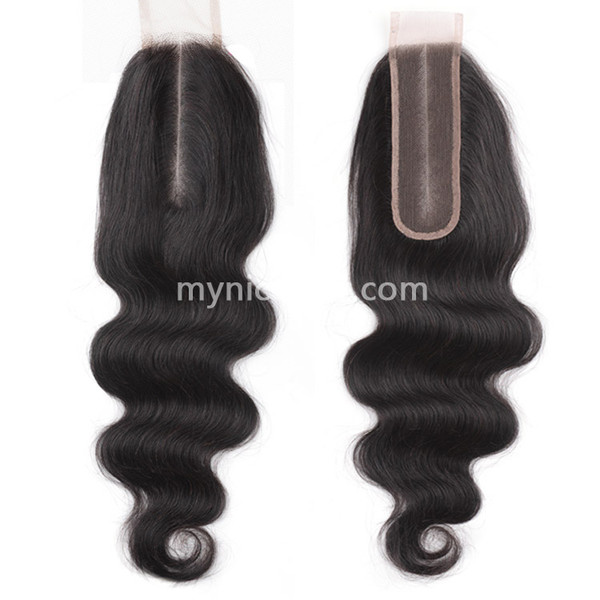 2X6 Kim K Pre-plucked Lace Closure Body Wave Virgin Human Hair