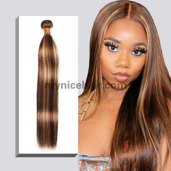 1 Bundle High Quality Highlight Mixed colours 4#/27# Pure Human Hair
