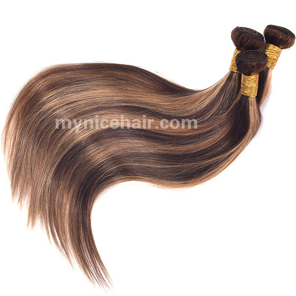 3 Bundle High Quality Highlight Mixed colours 4#/27# Pure Human Hair