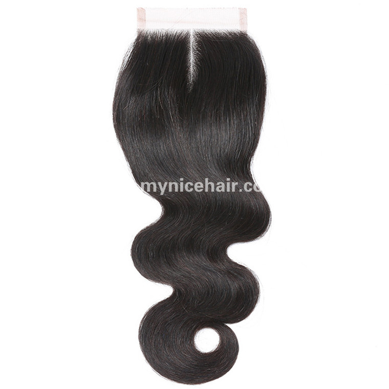 4X4 Pre-plucked Top Closure Body Wave Unprocessed Virgin Human Hair