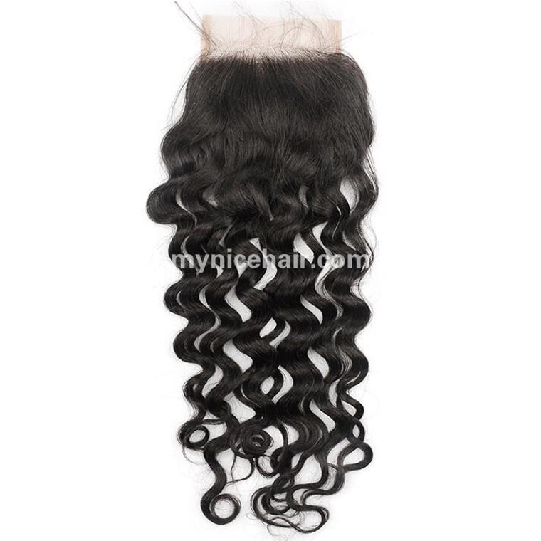 4X4 Pre-plucked Top Closure Italian Wave Virgin Human Hair