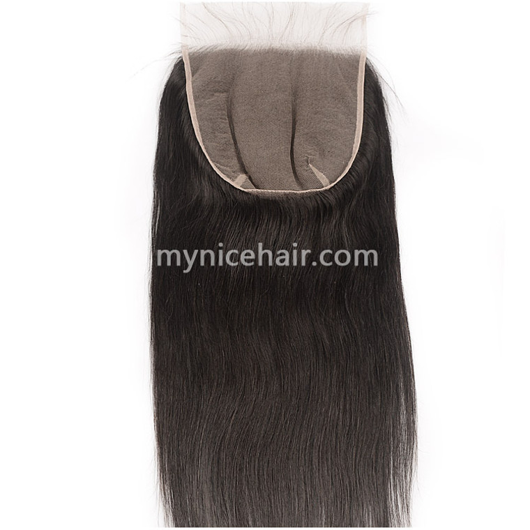 5x5 6x6 7x7 Pre-plucked Top Closure Virgin Straight Human Hair