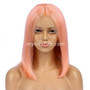 Lace Front Bob Wig Pre-plucked Pink 180% density Virgin Human Hair