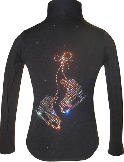"Ice Skating Jacket with ""Pair of skates"" rhinestone applique"