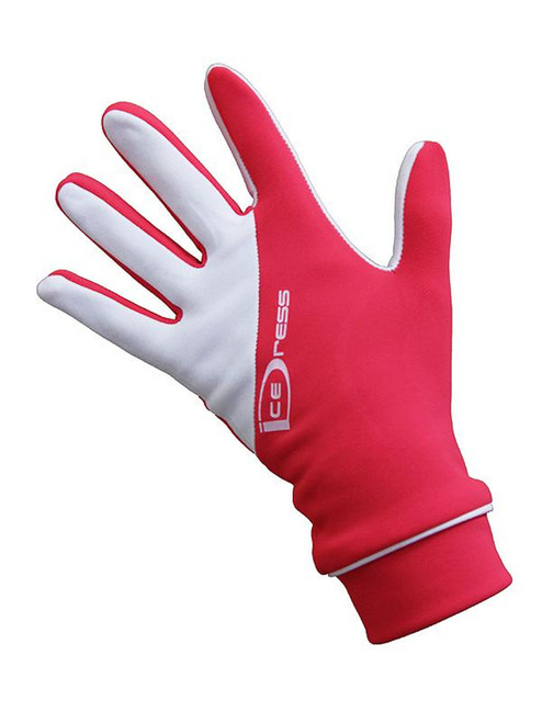 """IceDress - Thermal Figure Skating Gloves """"IceDress-Sport"""" (White and  Coral)"""