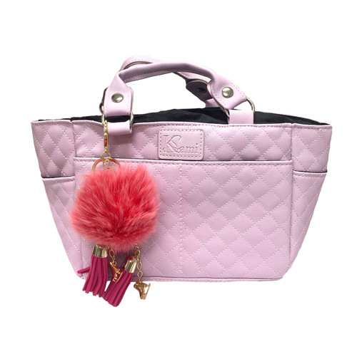 Kami-So Ice Skating Rink Tote - (Lilac) with Light Pink Charm