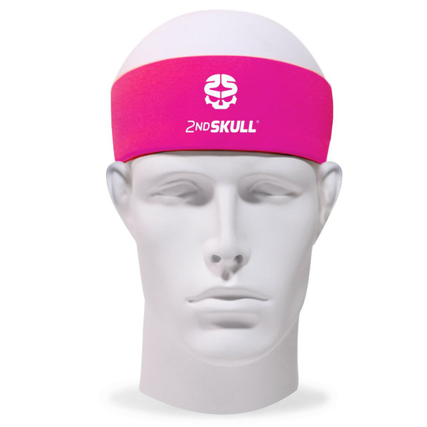2nd Skull Protective Headband with Silicone Grip Pink
