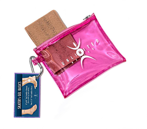 Unlimited Motion - Pink Zipper Tote with Ankle Sleeve Only