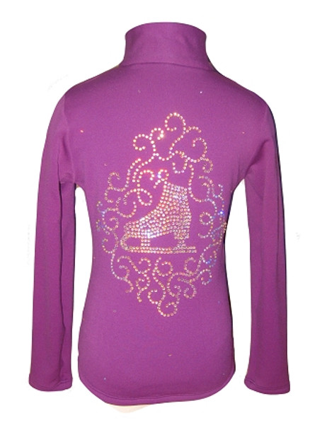 "Purple jacket with ""Skate & ornament"" Applique"