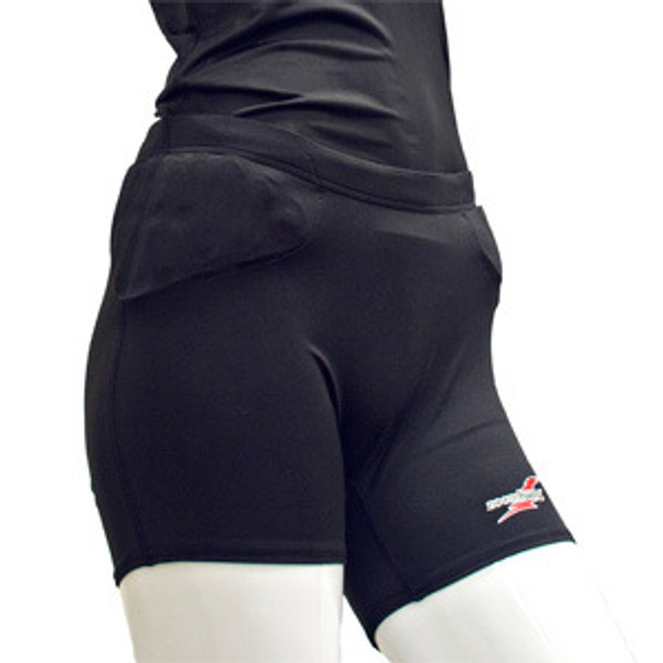 Zoombang Female Volleyball Short ZB-With Pelvic and Hip Pad Youth Black