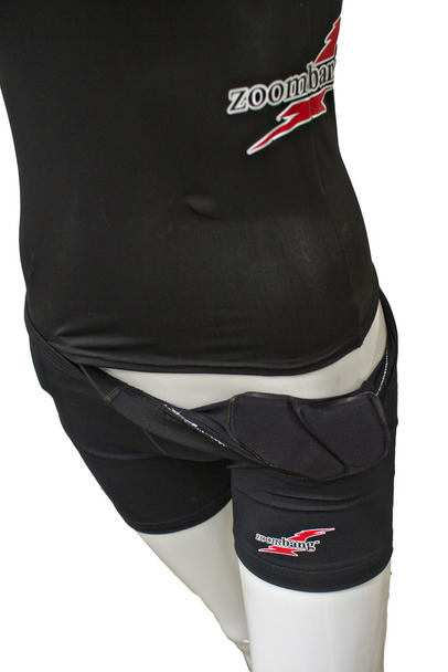 Zoombang Female Volleyball Shorts ZB-With Pelvic Pad Youth Black