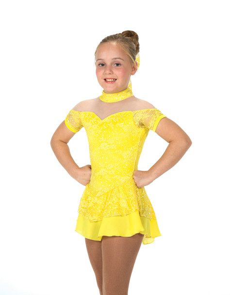 Jerry's Ice Skating  Dress 24 - Lacy Belle  (Lemon Yellow)