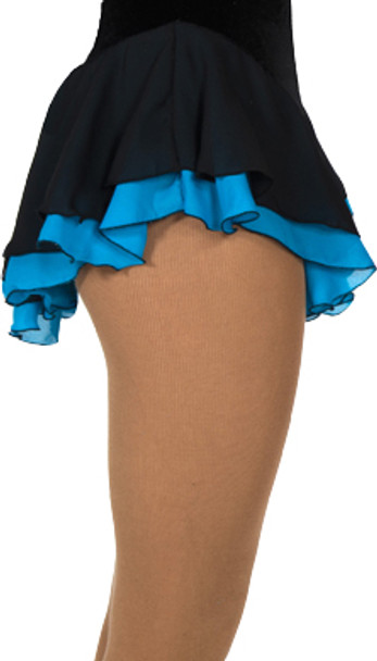 305 Jerry's Double Georgette Skirt - Black/Blue