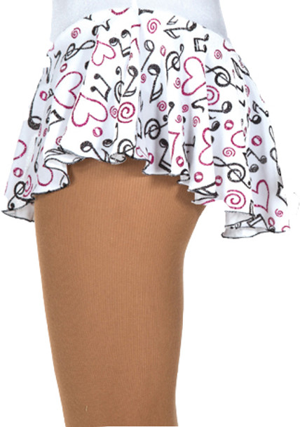 312-WHT Jerry's Musical Notes Skirt - White