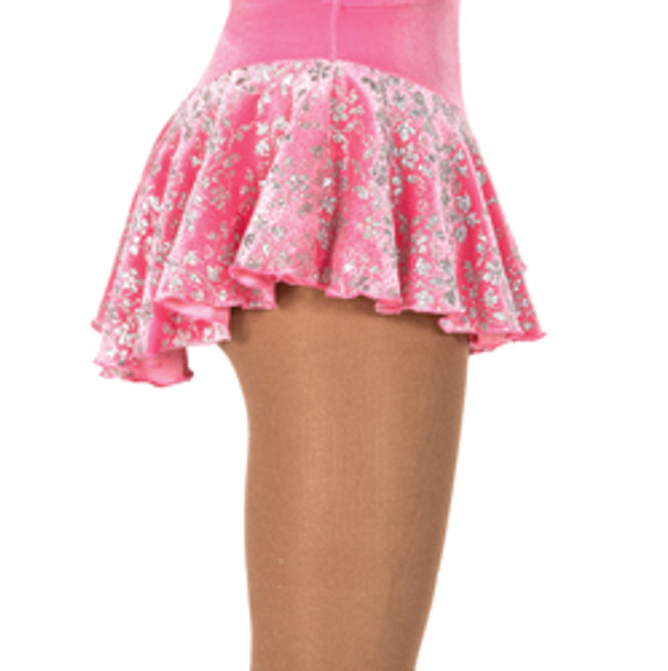 317 Jerry's  Silver Ivy Glitter Velvet Skirts - Clear Pink