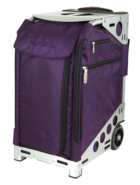 ZUCA ARTIST PRO BAG - PURPLE INSERT AND SILVER FRAME