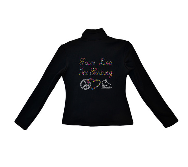 ChloeNoel - J42 X Solid Polar Fleece Fitted Jacket - Peace Love Ice Skating (Colorfull) (Clearance)