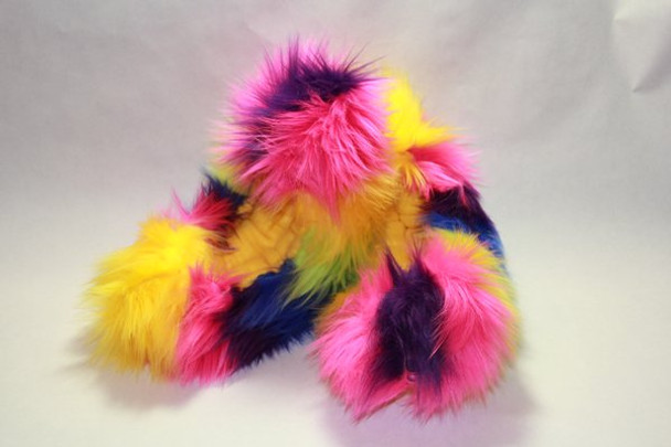Crazy Fur Soakers CF15P - Rainbow