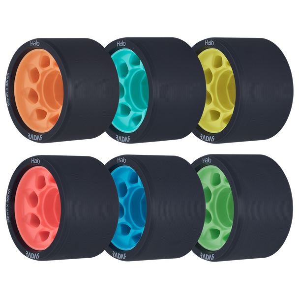 Riedell Skates Radar Halo 59mm Indoor Skate Wheels (Set of 4)