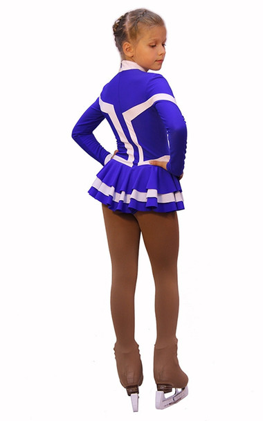 IceDress Figure Skating Outfit - Thermal -Choctaw (Purple with White Line)