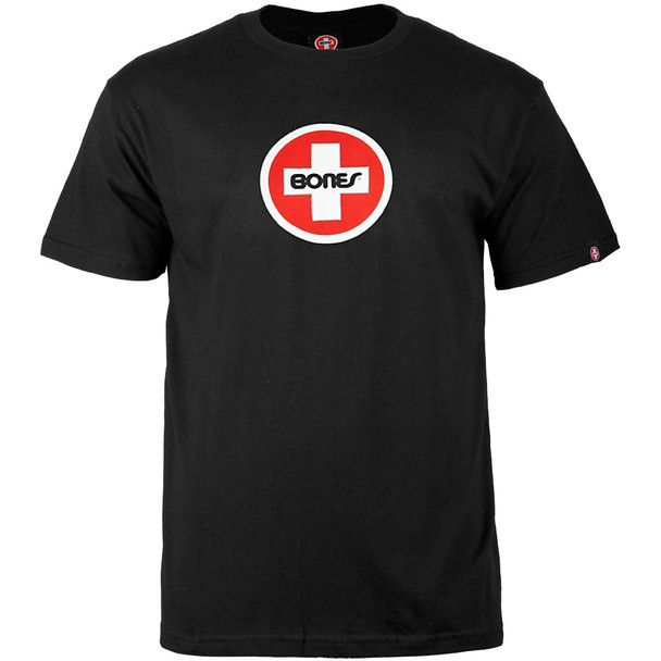 Bones® Bearings Swiss Circle T-Shirt - Black (Medium)