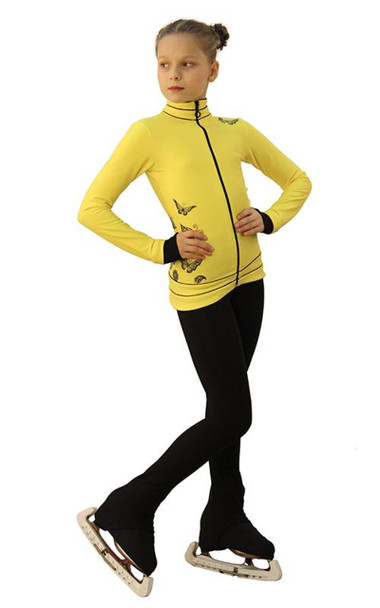 IceDress Figure Skating Outfit - Thermal - Flying (Yellow with Black)