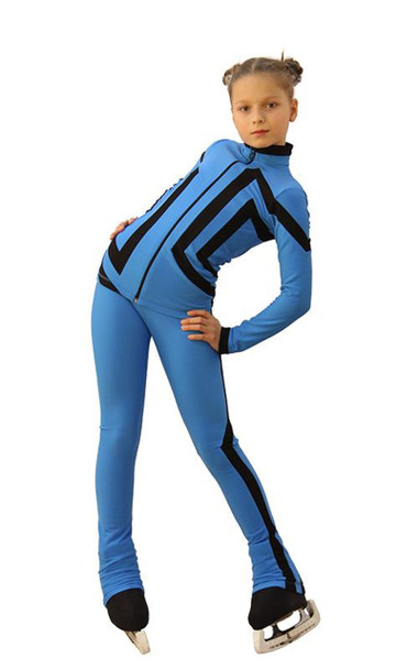 IceDress Figure Skating Outfit - Thermal - Vanguard - Sport (Blue with Black)