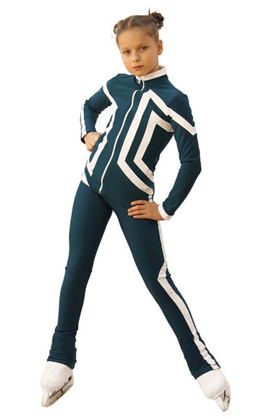 IceDress Figure Skating Outfit - Thermal - Vanguard - Sport (Dark Blue with White)
