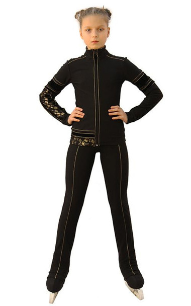 IceDress Figure Skating Outfit - Thermal - Glamour (Black)