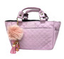 Kami-So Ice Skating Rink Tote -  Lilac with Light Pink Keychain Charm