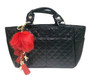 Kami-So Ice Skating Rink Tote -  (Onyx) with Red Charm