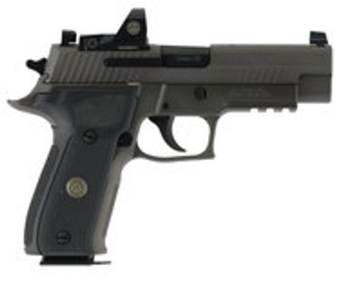 "SIG Sauer P226 Legion RX Semi Auto Pistol 9mm Luger 4.4"" Barrel 15 Rounds X-Ray Sights/ROMEO1 Reflex Sight SIG Rail Black G10 Grips Stainless Steel Slide/Alloy Frame PVD Gray Finish (BDU)"