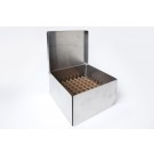 """4"""" Stainless Steel Box with Rivet Hinge Lid"""
