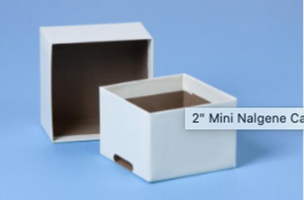 "2"" Mini Nalgene Cardboard Box - With Slots"