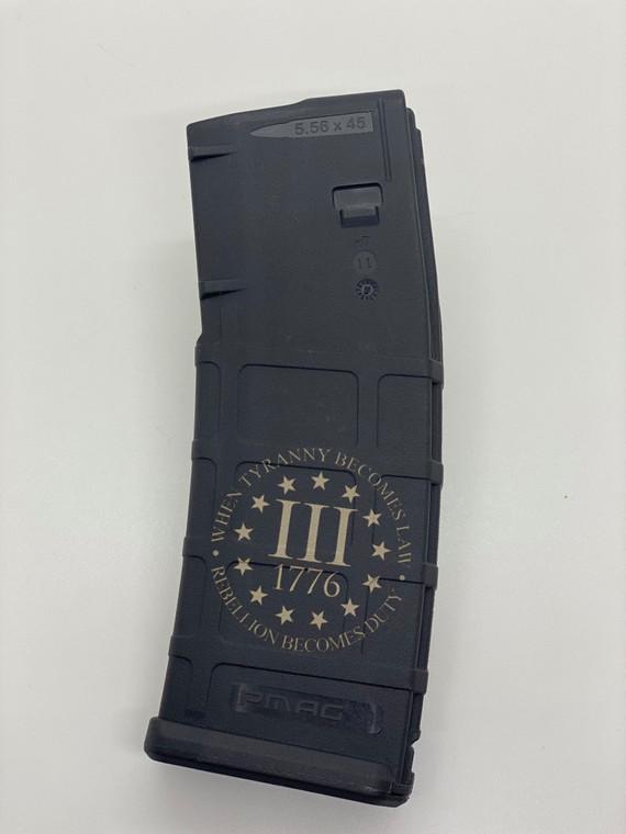 As seen on TikTok!!! BIDEN BEHIND BARS & 1776 3% Lasered AR15 PMAG - 30RD