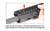 UTG PRO® Rail for Super Slim Free Float Handguard, 15 Slots (LEAPKD_MTURS02L)