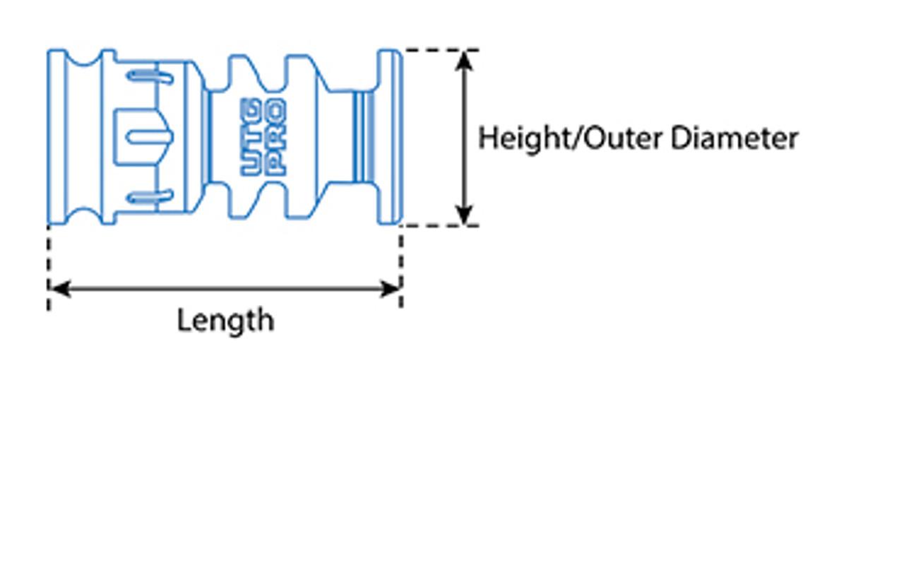 "UTG PRO® AR15 Stubby Muzzle Brake, .223/5.56, 1/2""X28 1.75"" Length (LEAPKDTLUMD01)"