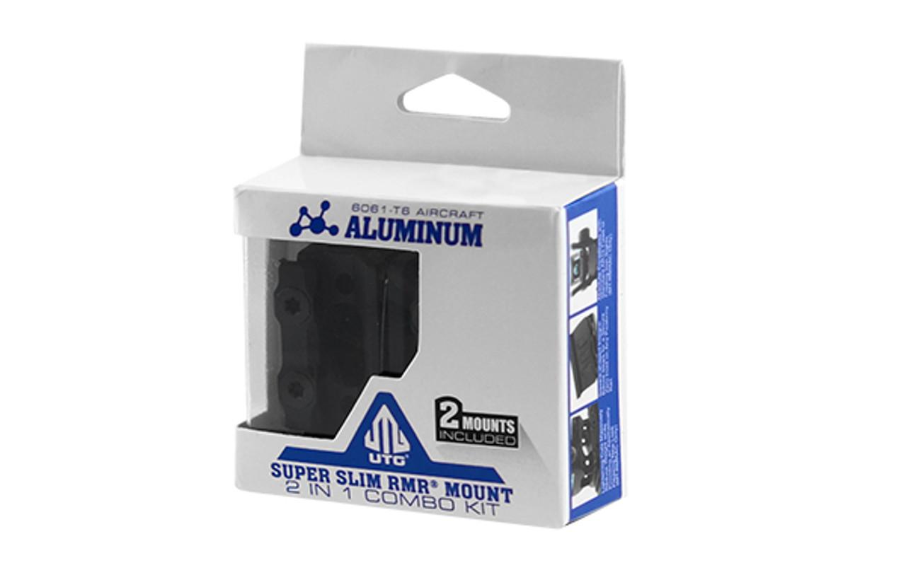 UTG® Super Slim Picatinny RMR® Mount 2 in 1 Combo (LEAPKD_MT_RMRKIT)