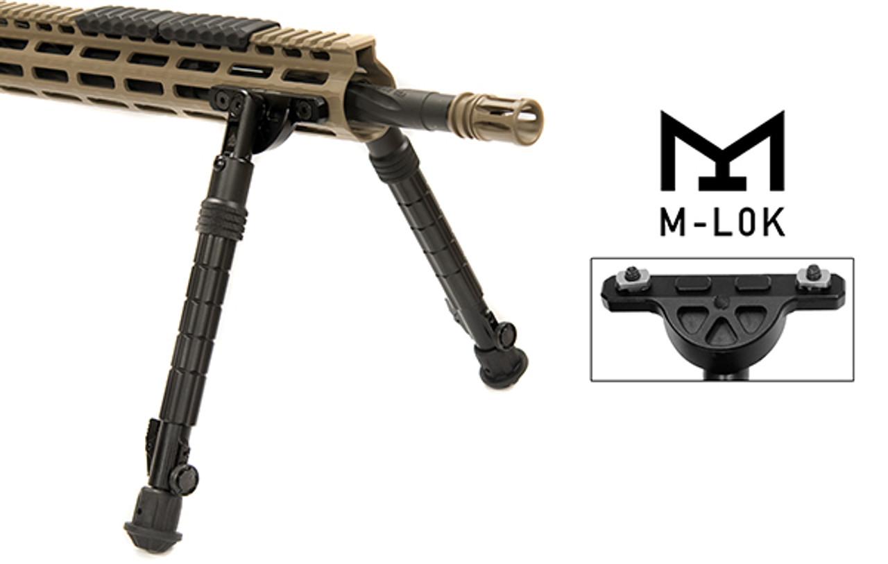 "TL-BPDM02 UTG® RECON FLEX® M-LOK® Bipod, Matte Black, 8.0""-11.8"" Center Height (TL-BPDM02)"