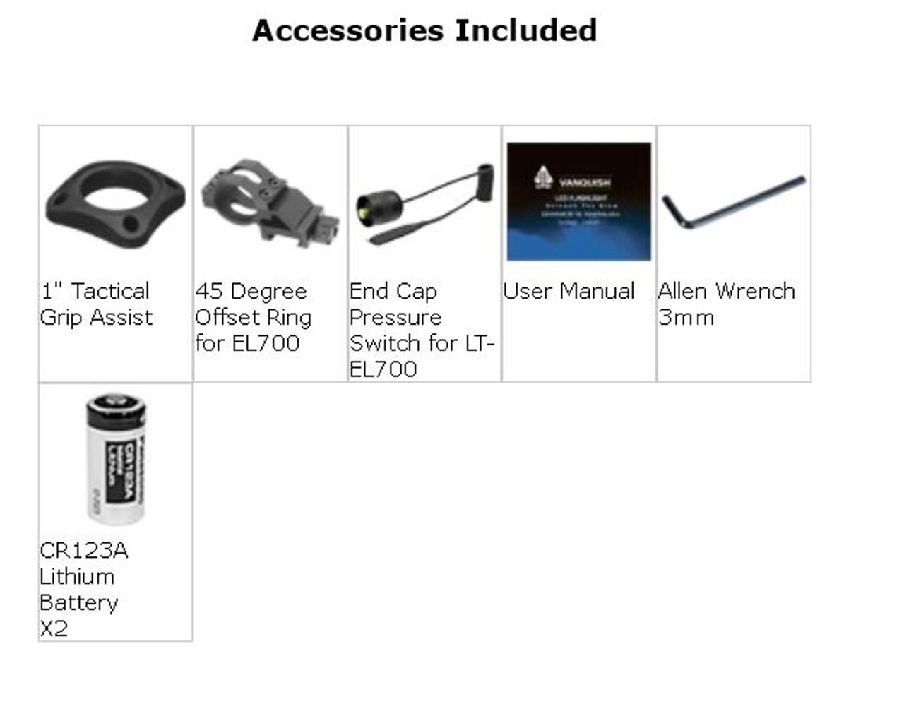 LT-EL700 UTG LIBRE Intensity Adjustable LED Flashlight, 700 Lumen